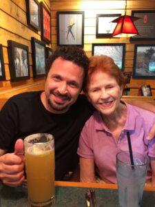 Chris Behnan and his mom